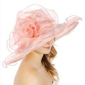 Large rose with lace dress Formal hat
